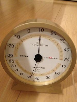 12月の床下パントリーの温度・湿度