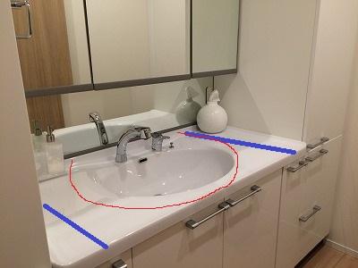 洗面台の幅