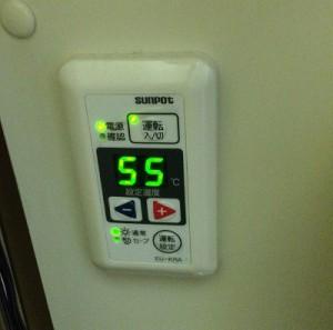 ボイラーの設定温度