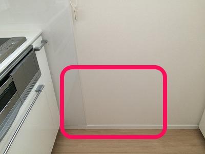 キッチンの壁汚れ