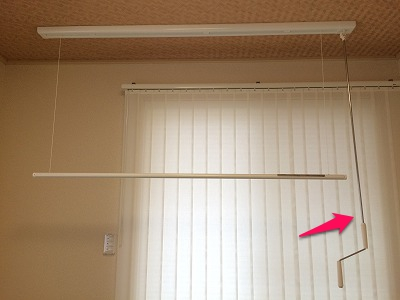 昇降式ホスクリーンの棒