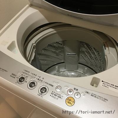 洗濯機分解清掃前_分解前